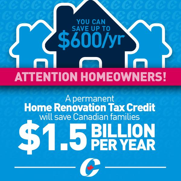 Harper announces new, permanent Home Renovation Tax Credit ...