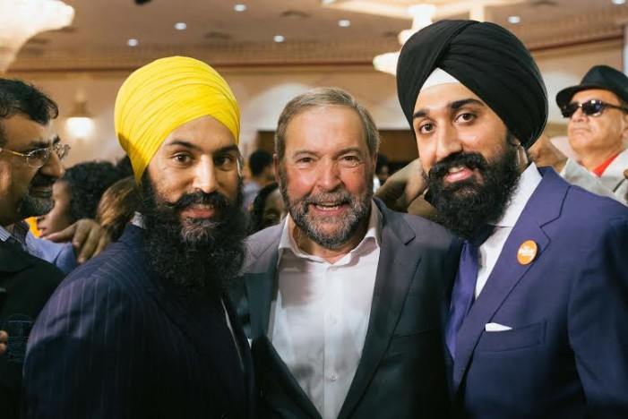 Harbaljit Singh Kahlon and Tom Mulcair bring the Orange Wave to Brampton