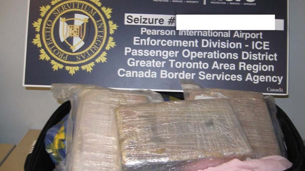 Suspected cocaine found in down vests at Toronto airport