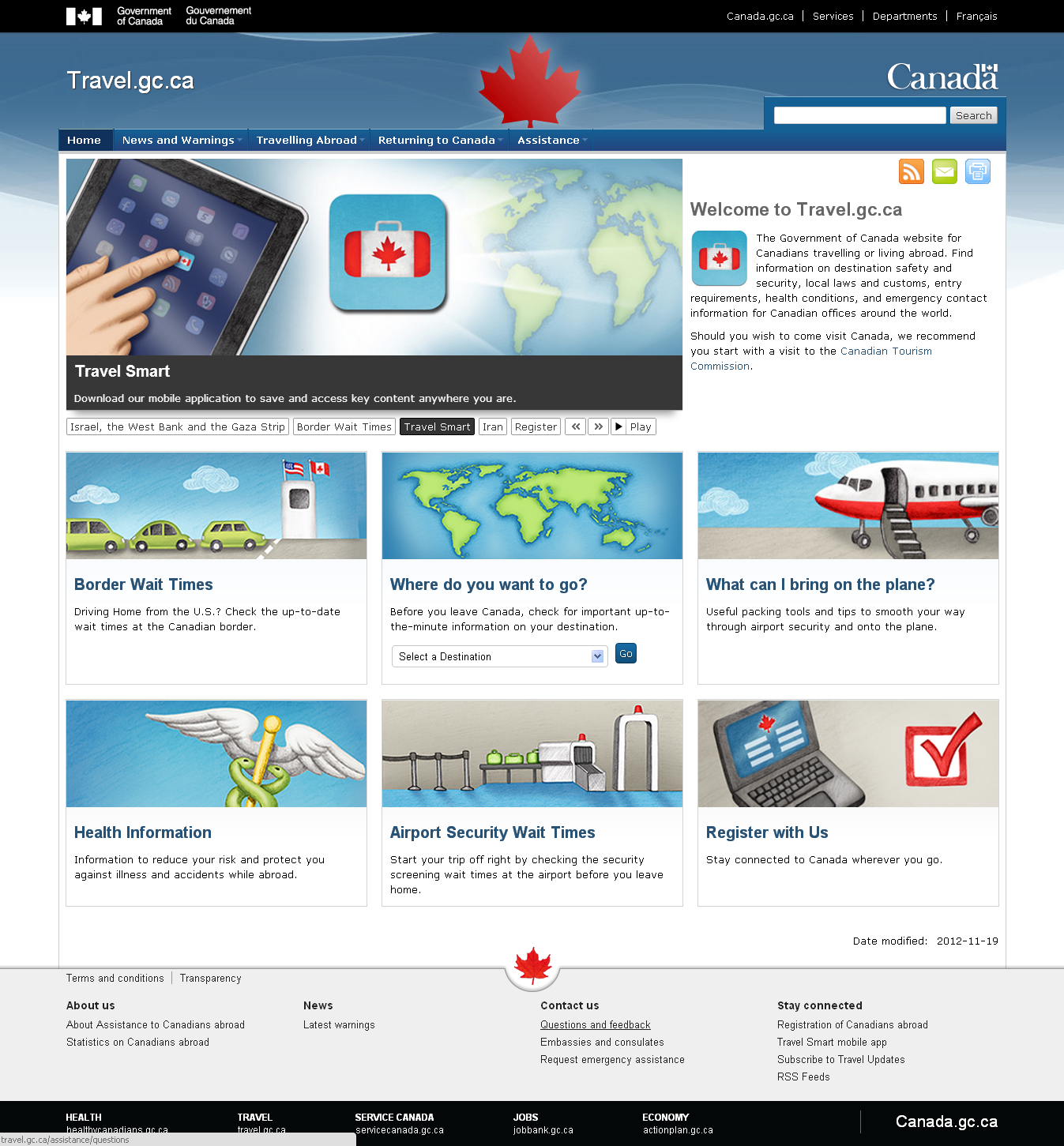 Government of Canada Launches International Travel Website