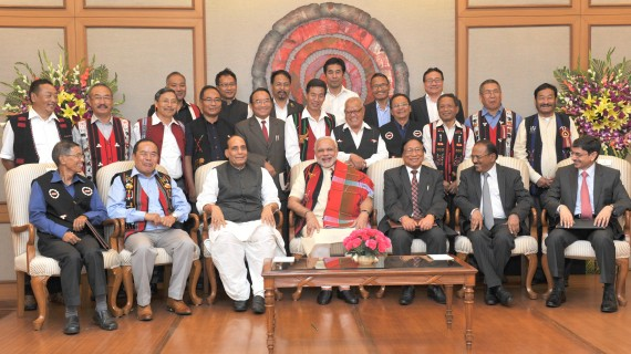 PM Modi witnesses the signing of historic peace accord between Government of India and Nationalist Socialist Council of Nagaland (NSCN)