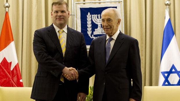 Palestinians summon Canada's envoy over Baird visit